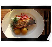 Fish with Potatos Poster