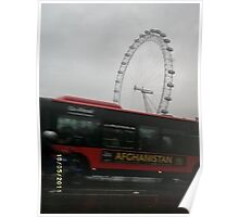 UK/London Eye -(180511a)- digital photo Poster