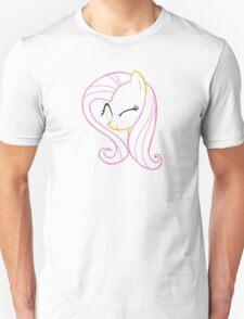 FlutterShy Wink Outline T-Shirt