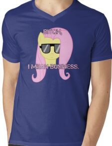 FlutterShy means business. Mens V-Neck T-Shirt