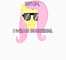 FlutterShy means business. Unisex T-Shirt