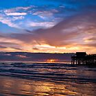 Cocoa Beach Pier at Sunrise by vicjauron