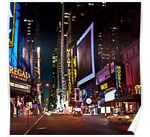 42nd Street View Before Dawn Poster