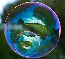 Twin Bubble Landscapes by Richard Heeks