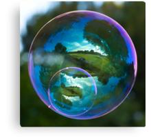 Twin Bubble Landscapes Canvas Print