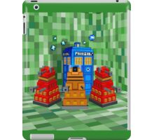 8bit Robot Droid Dalek with blue phone box iPad Case/Skin