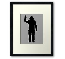 Space Engineers Icon/Silhouette Framed Print