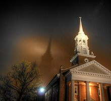 Shadow of the Lutheran Seminary at Gettysburg by vicjauron