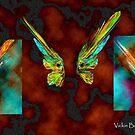 Kimono Butterfly Silk Print by coppertrees
