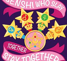 Slay Together, Stay Together - Sailor Scouts Clean by skittzi