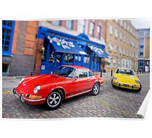 Two 911s in Town Poster