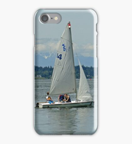 South Puget Sound Sailing iPhone Case/Skin