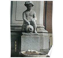 Angel/Islington: Defaced sculpture -(180511)- digital photo Poster