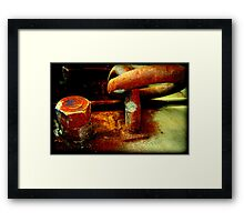 Abstract in Rust VIII Framed Print