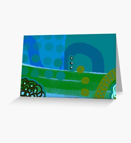 Blue Eco Greeting Card