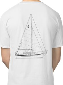 Dana 24 sail plan T shirt (printed on BACK) Classic T-Shirt