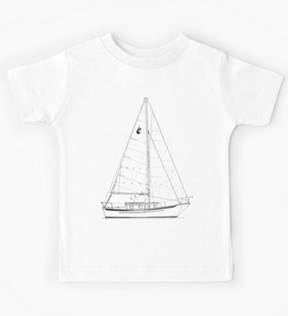Dana 24 sail plan T shirt (printed on BACK) Kids Tee
