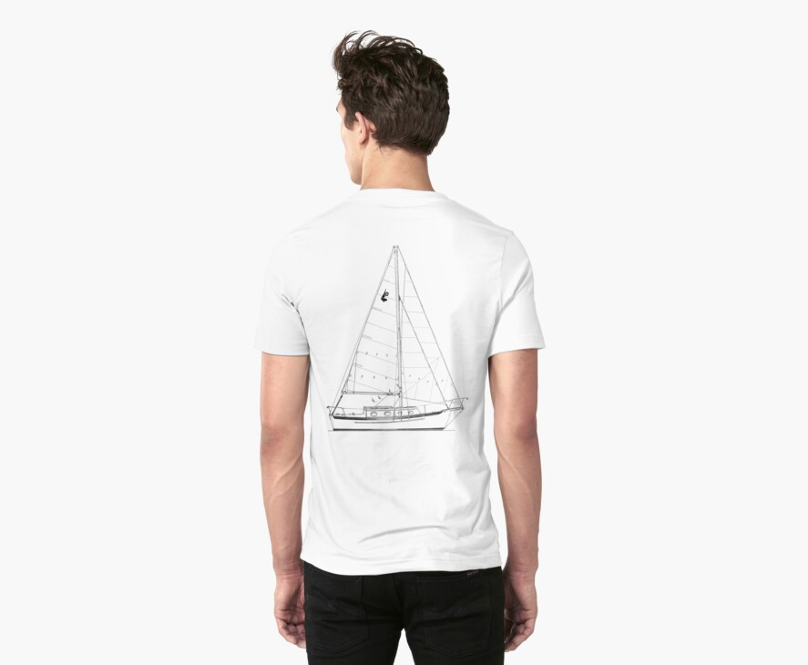 Dana 24 sail plan T shirt (printed on BACK) by benjy