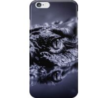 Saltwater Crocodile waits for its prey, Western Australia iPhone Case/Skin