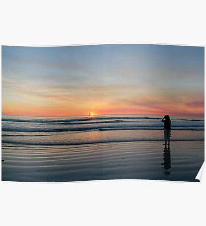 solitary moment on cable beach Poster
