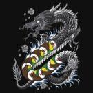 Dragon Roll - Japanese Style Tattoo Dragon w/ Dragon Roll Sushi by karbondream