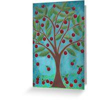 Juicy Red Fruit Tree Greeting Card