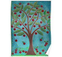 Juicy Red Fruit Tree Poster