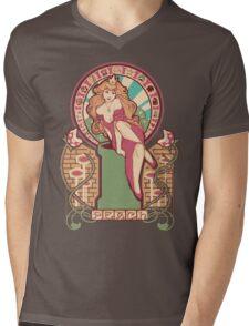 Peach Nouveau Mens V-Neck T-Shirt