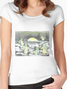 Moon shining Women's Fitted Scoop T-Shirt