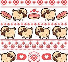 Puglie Christmas by Puglie  Pug