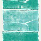Landscape - Blue Green Monolith Three Times by Nadia Korths