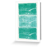 Landscape - Blue Green Monolith Three Times Greeting Card
