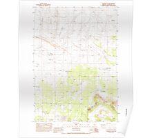 USGS Topo Map Oregon Soldiers Cap 281563 1983 24000 Poster