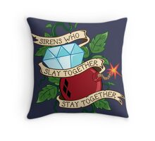 Slay Together, Stay Together - Gotham City Sirens Clean Throw Pillow