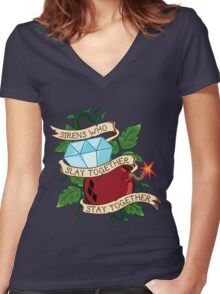 Slay Together, Stay Together - Gotham City Sirens Clean Women's Fitted V-Neck T-Shirt