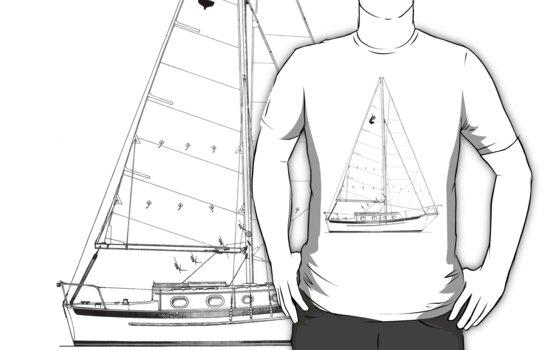 Dana 24 sail plan T shirt (Printed on FRONT) by benjy