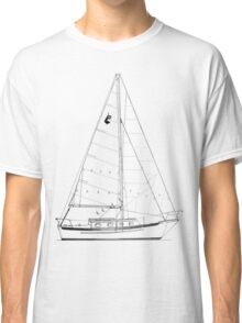 Dana 24 sail plan T shirt (Printed on FRONT) Classic T-Shirt