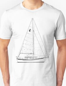 Dana 24 sail plan T shirt (Printed on FRONT) T-Shirt