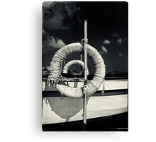 Ropes on a boat Canvas Print