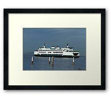 "Washington State Ferry ""Kitsap"" Framed Print"