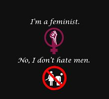 For the feminists who don't hate men Women's Fitted Scoop T-Shirt