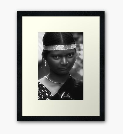 Young Tribal Lady Framed Print