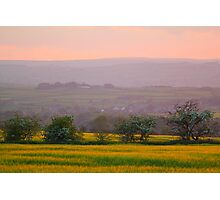 The Gathering Dusk over Bolam, County Durham, England Photographic Print