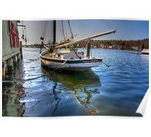 The Sloop Nellie at Mystic  Poster