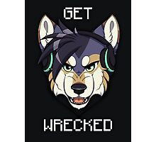 GET WRECKED - Wolf Photographic Print