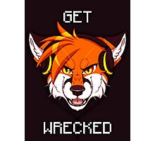 GET WRECKED - Fox Photographic Print