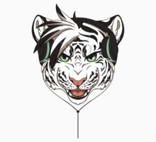 Headphone White Tiger by 8Bit-Paws
