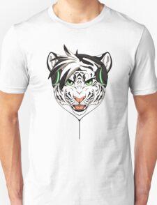 Headphone White Tiger Unisex T-Shirt