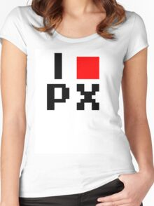 I :heart: PX (I love Pixels) Women's Fitted Scoop T-Shirt