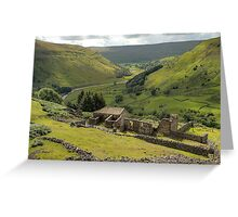 Crackpot Hall and Swaledale Greeting Card